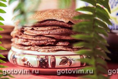Гречневые блины (с пшеничной мукой)