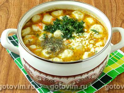 куриный суп с картофельными клецками