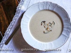Грибной суп-пюре с чесноком
