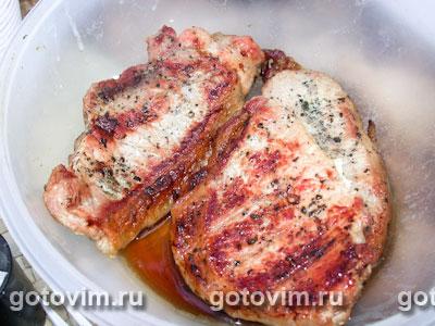 Мясо на решетке. Фотография рецепта