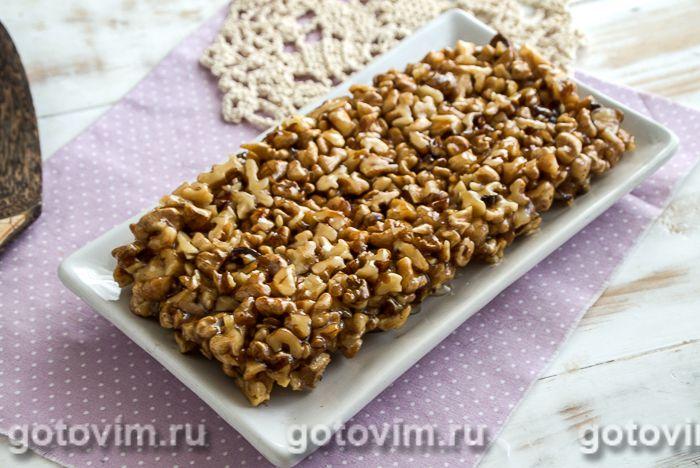 Грильяж из грецких орехов. Фотография рецепта