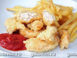 Темпура из куриных грудок («Тори темпура»)