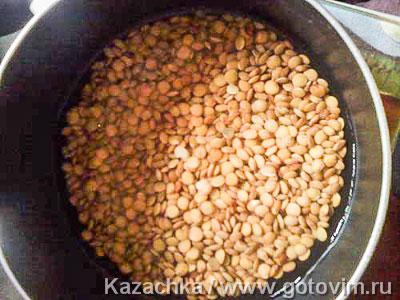 Грузинский чечевичный суп, Шаг 01