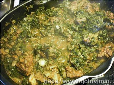 Фотографии рецепта Гурме сапзи - зелёное рагу по-ирански, Шаг 07