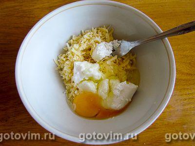 Хачапури с творогом и сыром на сковороде, Шаг 02