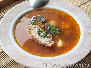 Суп харчо с говяжьими почками