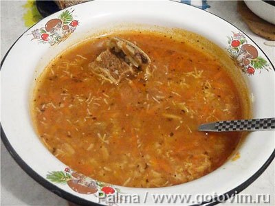 Фотография рецепта Рисовый суп с мясом
