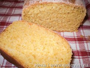 Кукурузный хлеб (на опаре)