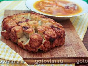Обезьяний хлеб с чесноком (в хлебопечке)