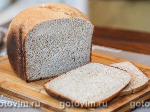 Хлеб из цельнозерновой муки с отрубями в хлебопечке