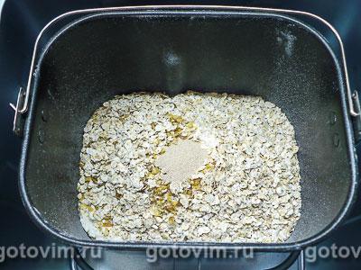 Хлеб с овсяными хлопьями (для хлебопечки), Шаг 02