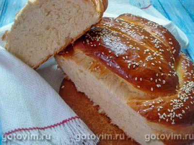 Плетеный хлеб на кефире