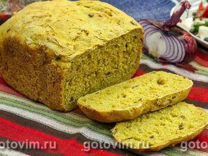 Тыквенный хлеб из ржаной и пшеничной муки с кориандром