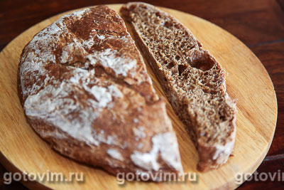 Хлеб на квасе. Фотография рецепта