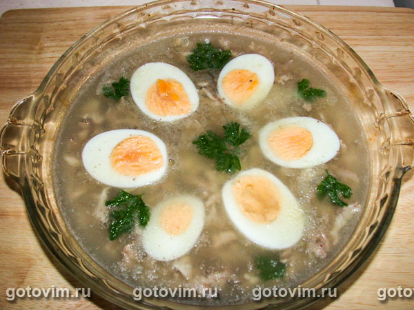 кулинарные рецепт курица холодец фото