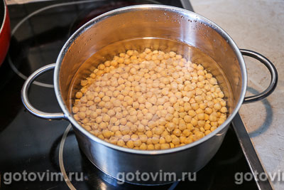Хумус с печеным перцем, Шаг 01