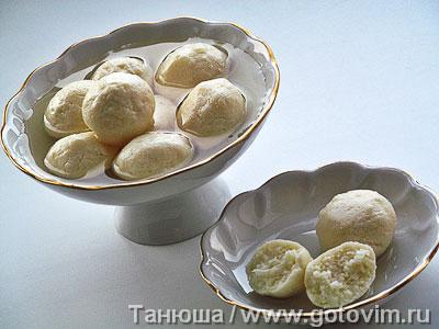 Фотография рецепта Индийская расгулла (творожный десерт)