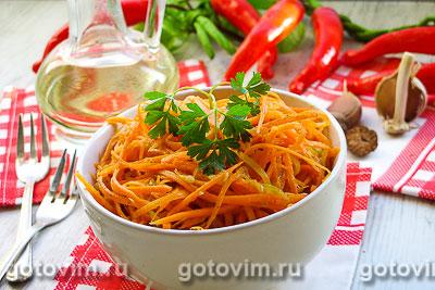Салат из кабачков и моркови по-корейски. Фотография рецепта