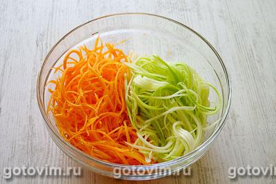 Салат из кабачков и моркови по-корейски, Шаг 02