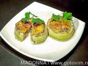 Грибные жюльены с кальмарами, пошаговый рецепт с фото
