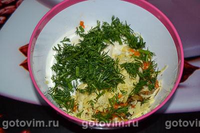 Кальмары, фаршированные грибами с сыром, Шаг 06