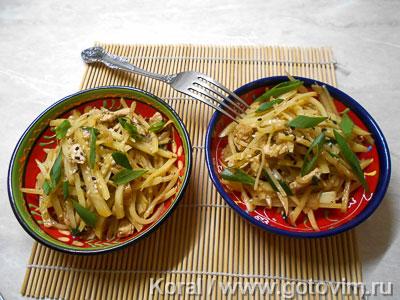 Салат из картошки по-корейски (Камдича). Фотография рецепта