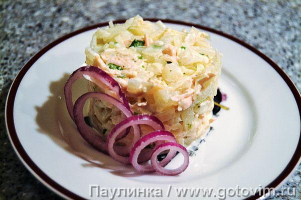 Капустный салат с куриной грудкой «Аценцили». Фотография рецепта