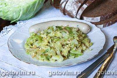 Фотография рецепта Молодая капуста с яйцом
