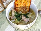 Куриный суп с капустой