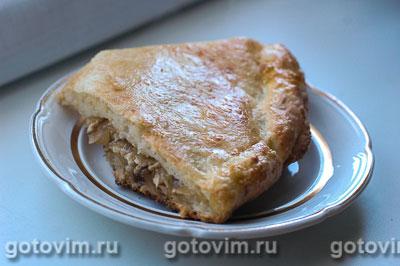 Пирог с капустой из творожного теста. Фотография рецепта