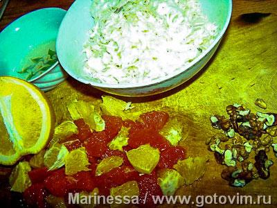 Капустный салат с цитрусами, Шаг 01