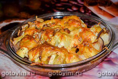 Картофель, фаршированный беконом и сыром