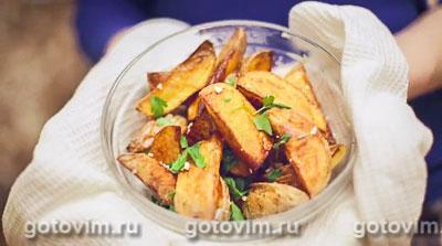 Картофель по-деревенски. Фотография рецепта