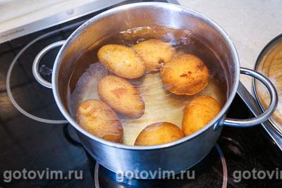 Жареная картофельная лепешка с зеленью, Шаг 01