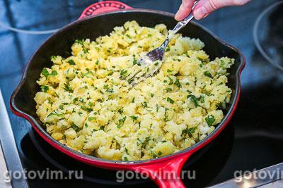 Жареная картофельная лепешка с зеленью, Шаг 05