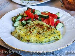 Жареная картофельная лепешка с зеленью