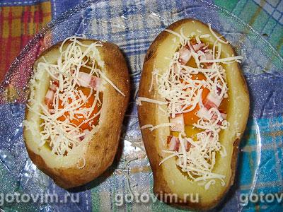 картошка с яйцами в духовке фото рецепт