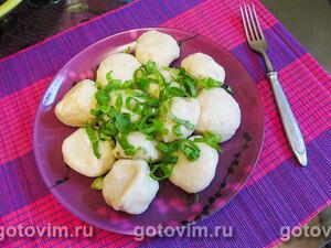 Картофельные кнедлики с мясом