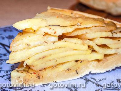 Картофельный перевёрнутый пирог. Фотография рецепта