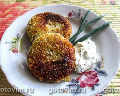 Картофельно-рыбные биточки. Фотография рецепта