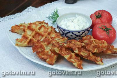 Картофельные вафли с сыром. Фотография рецепта
