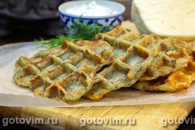 Картофельные вафли с укропом. Фотография рецепта