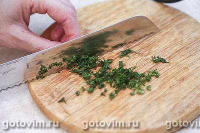 Картофельные вафли с укропом, Шаг 06