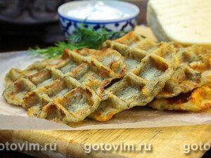 Картофельные вафли с укропом