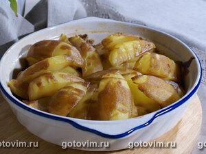 Печеный картофель с горчично-медовой заправкой
