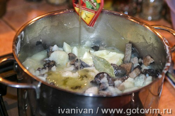 Картошка с грибами. Фотография рецепта