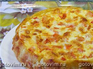 Картофельный пирог с норвежской сельдью