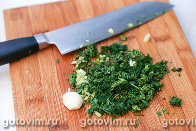 Картофельное пюре с зеленью и чесноком, Шаг 03