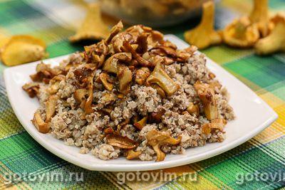 Гречка с грибами и сметаной по-польски
