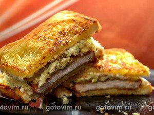 Кацу-сандо (сэндвич с тонкацу и рубленой капустой)